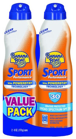 Banana Boat Ultra Mist Sport Performance Broad Spectrum  Sunscreen Spray - SPF 30 product image